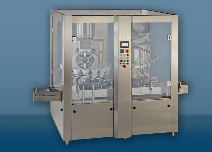 Automatic High Speed Rotary Dry Syrup 16x8 Powder Filling & Capping Machine