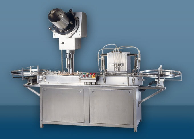 Volumetric Liquid Filling Machine with Capping